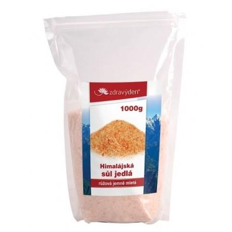 Sůl himalájská jedlá růžová jemně mletá 1000g