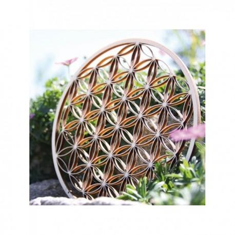 """Tácek """"Květ života"""" z břízového dřeva 10cm"""