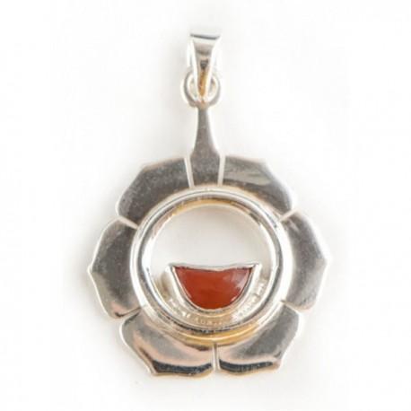 Čakrový přívěsek Svadhisthana stříbrný s karneolem Ag925
