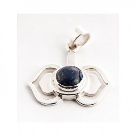 Čakrový přívěsek Ajna stříbrný s lapis lazuli Ag925