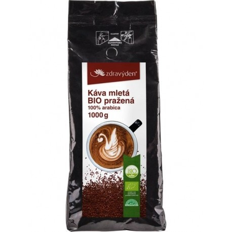 Káva mletá BIO pražená 1000g